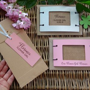 Flower Girl Or Bridesmaid Leather Photo Frames