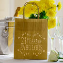 21 Years Of Fabulous Birthday Party Lantern Bag