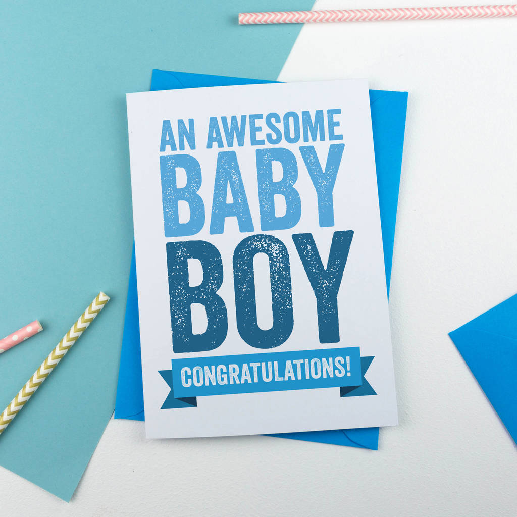 new baby boy congratulations card by a is for alphabet