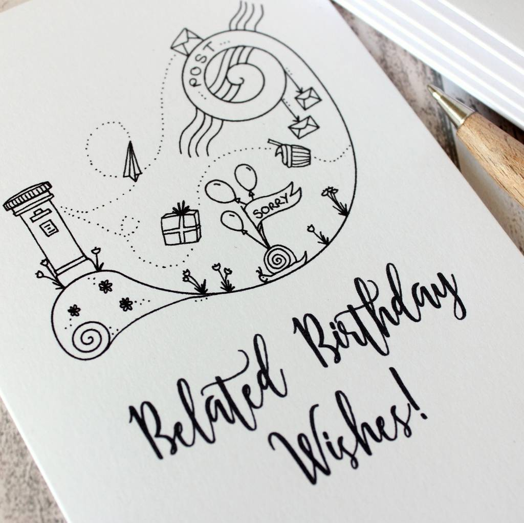 Belated Birthday Wishes Happy Card By Little Silverleaf