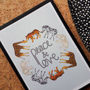 Peace And Love Illustrated Animal Print