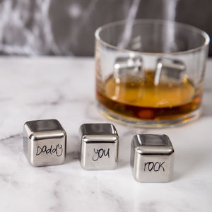 'Daddy You Rock' Stainless Steel Whisky Stones