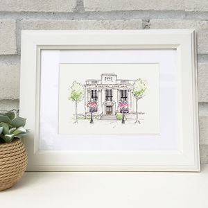 Hand Illustrated Islington Town Hall Print