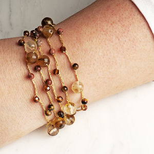 Mixed Stone Wrap Around Bracelet - bracelets & bangles