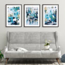 Abstract Art Prints Set Of Three Modern Framed Prints