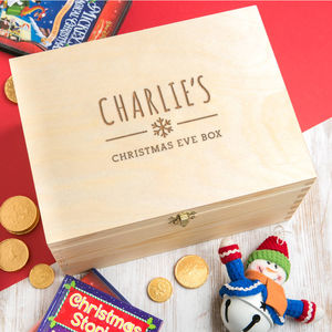 Personalised Children's Christmas Eve Box - boxes, trunks & crates