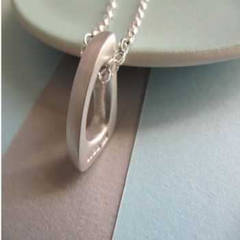 Infinity Silver Triangle Pendant Necklace