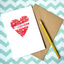 Personalised I Love You Valentines Card