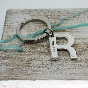 Alphabet Key Ring Initial In Sterling Silver - keyrings