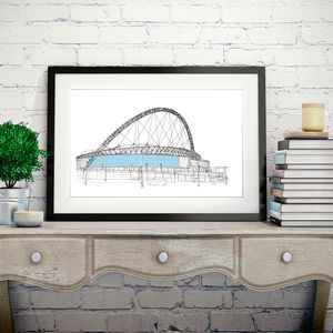 Wembley Stadium Signed Print