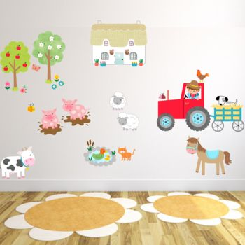 Farmyard Fun Fabric Wall Stickers
