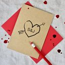 Cupids Arrow Personalised Card