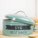 Personalised Teal Banner Cake Tin