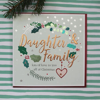 Daughter And Family Christmas Card