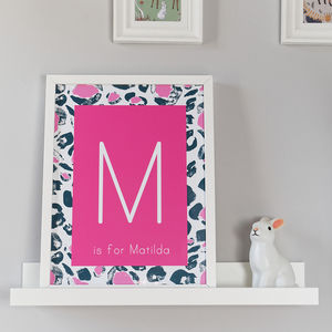 Personalised Children's Leopard Print - pictures & prints for children