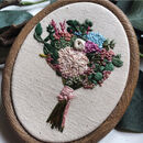 Personalised Hand Embroidered Wedding Bouquet Keepsake