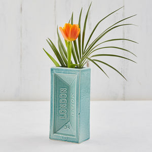 Ceramic Brick Shaped Vase, Free Delivery