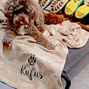 Personalised Elevated Pet Bed With Blanket
