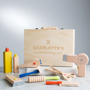 Personalised Wooden Hairdresser Set Toy - whatsnew