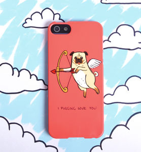 Pug Love Dog Phone Case For iPhone Or Samsung Galaxy - men's accessories