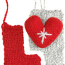 Christmas Heart Knitting Kit