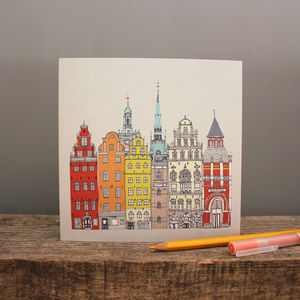 Stockholm Cityscape Greetings Card