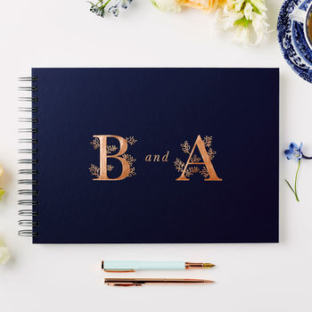 Personalised Monogram Guest Or Memory Book