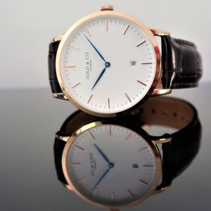 'Montpellier' Rose Gold And White - watches