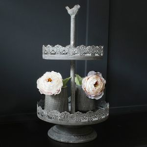 Decorative Two Tier Plant Pot Stand