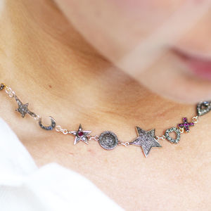 Eclectic Diamond Star Charm Necklace