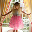 Pink Girls Dress Party Occasion Dress With Embroidery