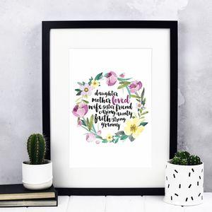 Custom Mother's Day Luxury Print