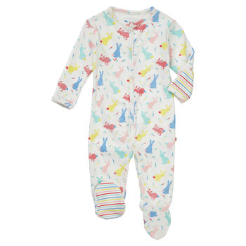 Bunny Baby Footed Sleepsuit