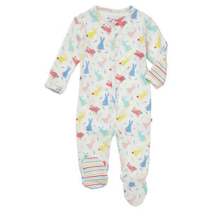 Bunny Baby Footed Sleepsuit - nightwear
