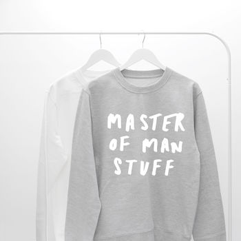 Man Stuff Father's Day Sweater