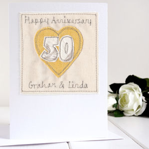Personalised Golden Wedding Anniversary Card - shop by category