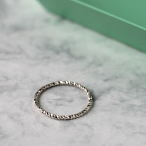 Twist Ring Sterling Silver Stacking Ring - rings