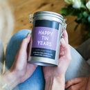 Personalised Anniversary Coffee Gift In Tin