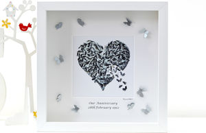 Personalised Silver Wedding Anniversary Framed Print - view all anniversary gifts