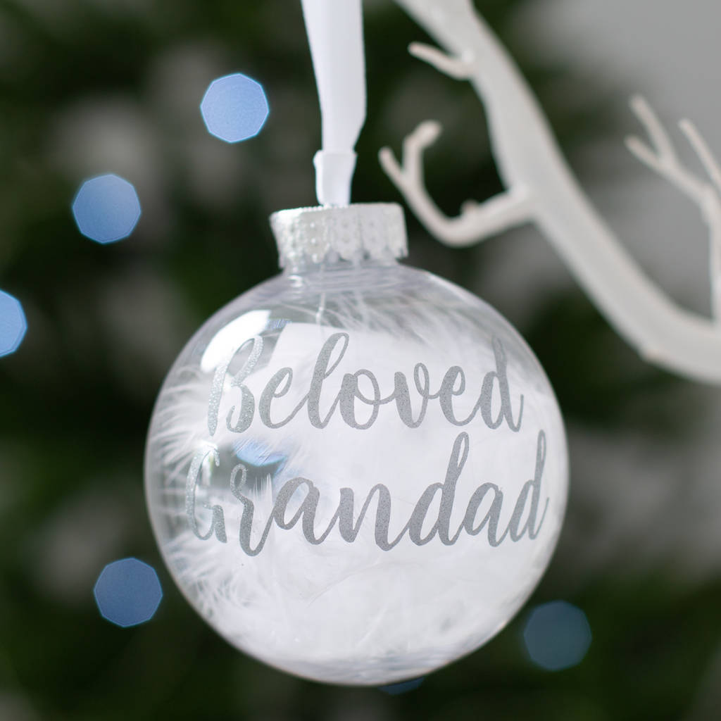 personalised in loving memory christmas bauble by bubblegum balloons ...
