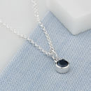 Sapphire Necklace, September Birthstone