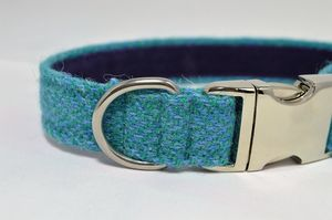 Herringbone Harris Tweed Dog Collar - gifts for your pet