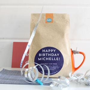 Personalised 'Birthday Cake' Tea - birthday gifts