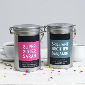 Personalised Siblings Coffee Gift Tin