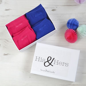 Personalised His And Hers Sock Gift Box