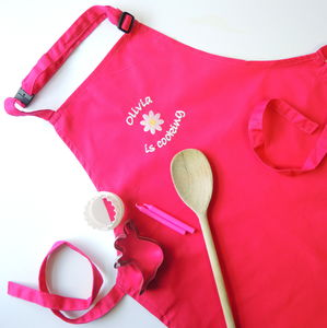 Kids Personalised Embroidered Apron - personalised