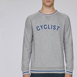 Mens Cyclist Sweatshirt - gifts for him