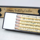 Personalised Pride And Prejudice Pencil Set