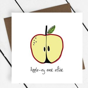 'Apple Ey Ever After' Fruit Greeting Card - funny cards