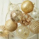 Set Of Luxury Gold Baubles